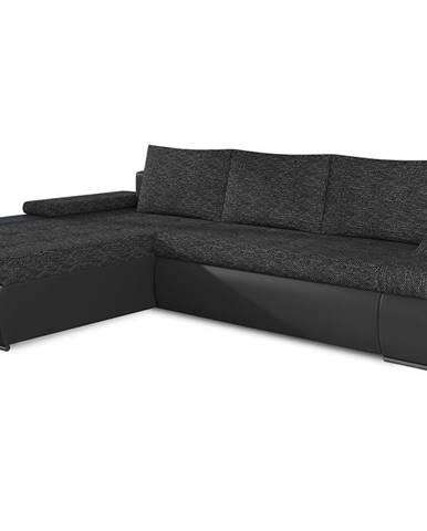 Oristano L rohová sedačka s rozkladom a úložným priestorom čierna (Berlin 02)