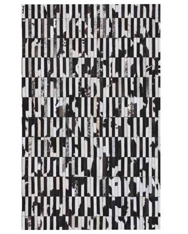 Typ 6 kožený koberec 141x200 cm vzor patchwork