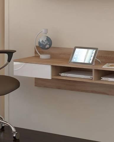 Uno pc stolík na stenu sonoma svetlá