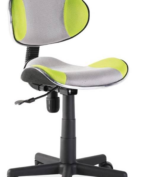 Signal Q-G2 kancelárska stolička zelená