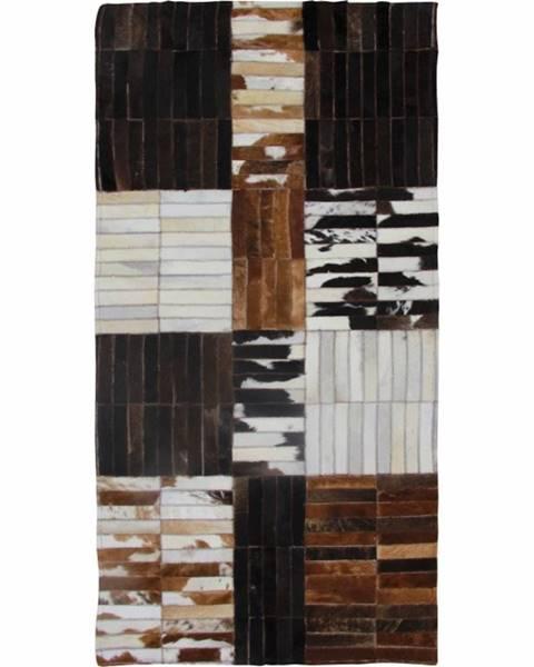 Tempo Kondela Typ 4 kožený koberec 69x140 cm vzor patchwork