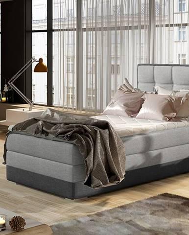 Alessandra 90 P čalúnená jednolôžková posteľ svetlosivá (Sawana 21)