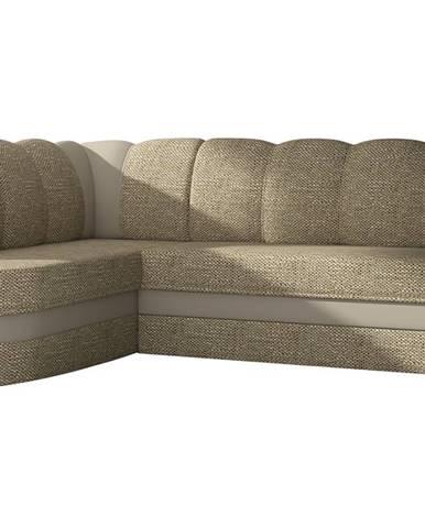 Belluno L rohová sedačka s rozkladom a úložným priestorom cappuccino