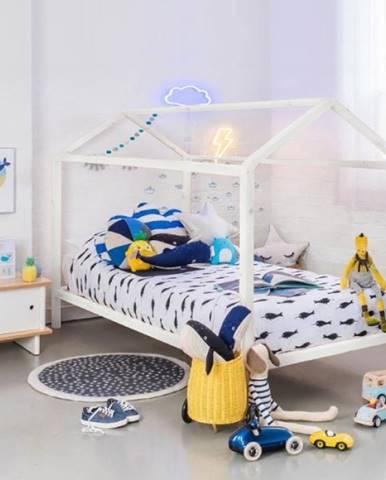 Impres 90 drevená jednolôžková posteľ s roštom biela