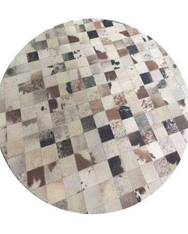 Typ 10 kožený koberec 200x200 cm vzor patchwork