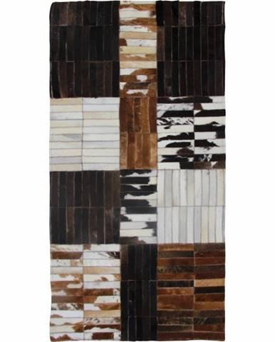 Typ 4 kožený koberec 69x140 cm vzor patchwork