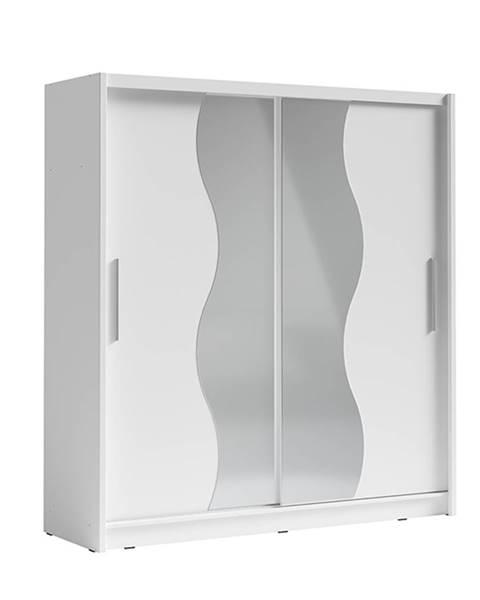 Kondela Birgamo Typ 1 šatníková skriňa s posuvnými dverami biela