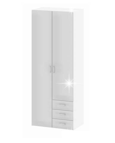 Gwen 70425 2D šatníková skriňa biela