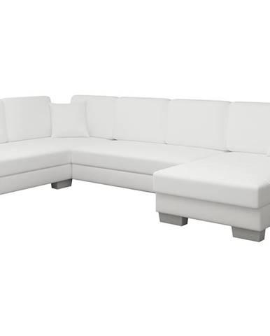 Mariano L rohová sedačka u s rozkladom a úložným priestorom biela