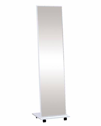 Neptun stojace zrkadlo na kolieskach biela