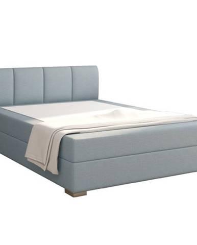 Riana Komfort 140 čalúnená manželská posteľ mentolová