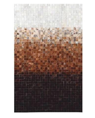Typ 7 kožený koberec 70x140 cm vzor patchwork