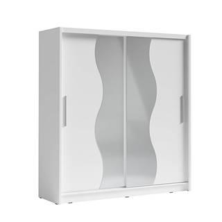 Birgamo Typ 1 šatníková skriňa s posuvnými dverami biela