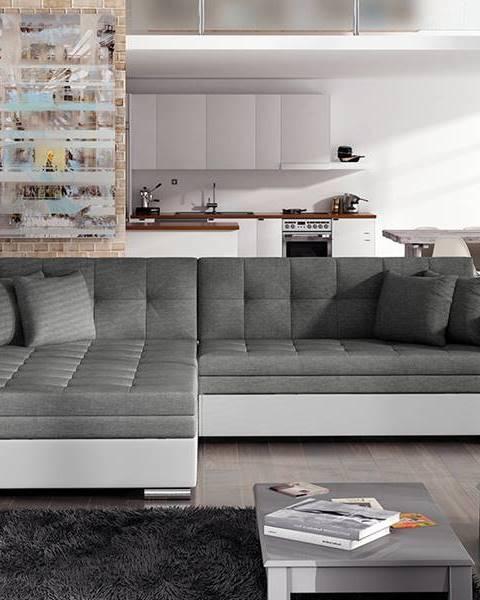NABBI Salerno L rohová sedačka s rozkladom sivá (Sawana 05)