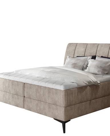 Altama 140 čalúnená manželská posteľ s úložným priestorom béžová