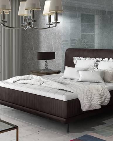 Ancona 180 čalúnená manželská posteľ tmavohnedá