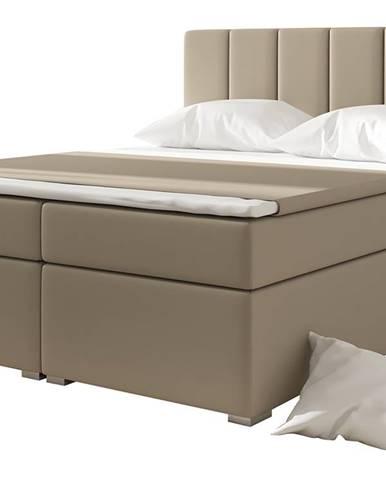 Barmo 180 čalúnená manželská posteľ s úložným priestorom béžová