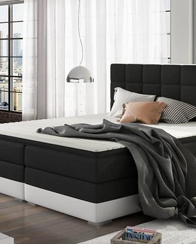 Dalino 180 čalúnená manželská posteľ s úložným priestorom čierna