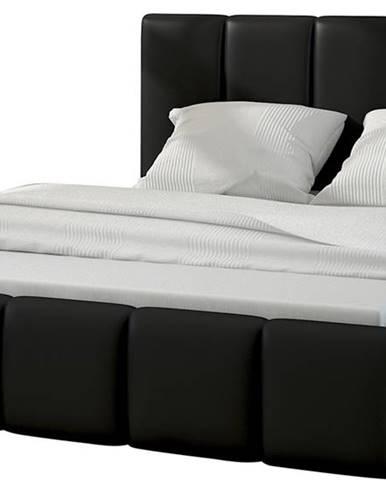 Evora 180 čalúnená manželská posteľ čierna (Soft 11)