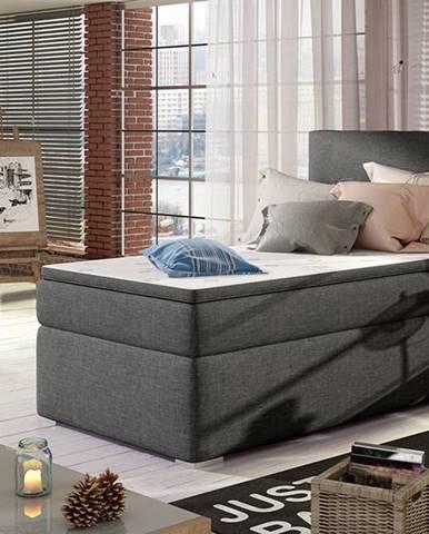 Rodrigo 90 P čalúnená jednolôžková posteľ s úložným priestorom sivá