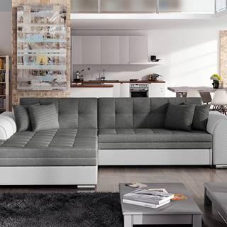 Salerno L rohová sedačka s rozkladom sivá (Sawana 05)