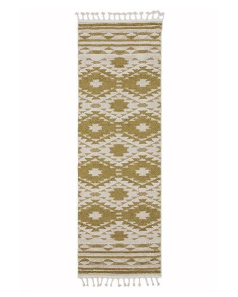Asiatic Carpets Žltý koberec Asiatic Carpets Taza, 80 x 240 cm