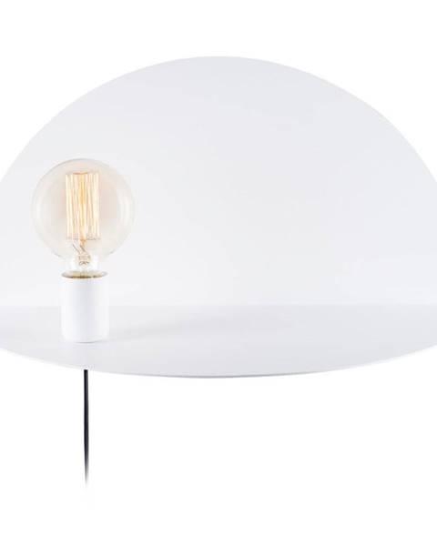Homemania Decor Biela nástenná lampa s poličkou Shelfie Cecile