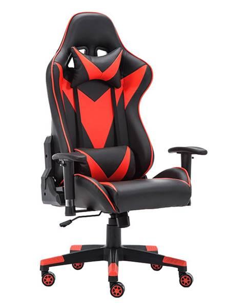 Tempo Kondela Kancelárske/herné kreslo s Bluetooth reproduktormi čierna/červená CARPI