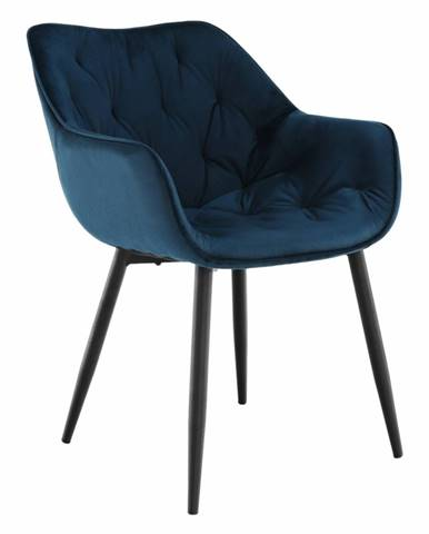 Dizajnové kreslo modrá Velvet látka FEDRIS