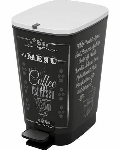 KIS CHIC BIN M 35L odpadkový kôš 40,5x26,5x45cm coffee menu