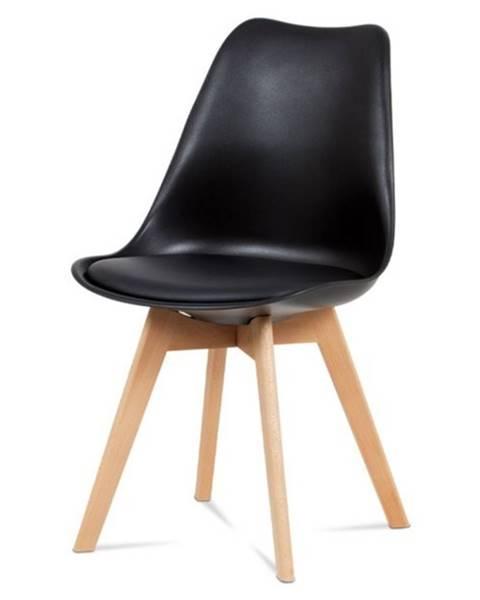 Sconto Jedálenská stolička SABRINA čierna/buk