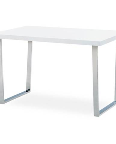 Jedálenský stôl LUIS biely, šírka 120 cm