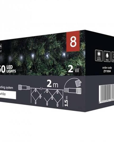 EMOS Vianočné osvetlenie Emos ZY1934, sieť, studená biela, 2 m ROZBALE