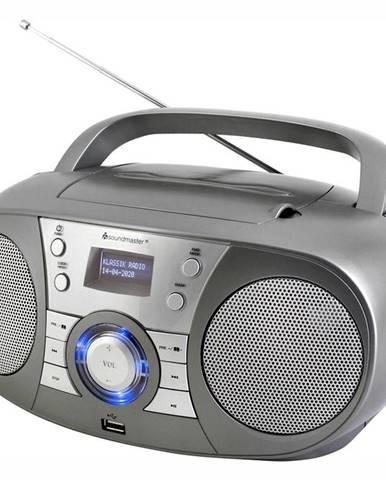 Rádioprijímač s DAB+ Soundmaster Scd1800ti siv