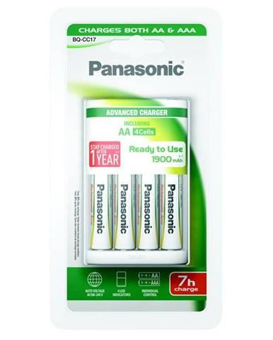 Nabíjačka Panasonic BQ-CC17 Andvanced + AA, 1 900 mAh, 4 ks
