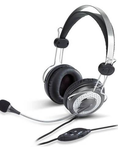 Headset  Genius HS-04SU čierny/strieborný