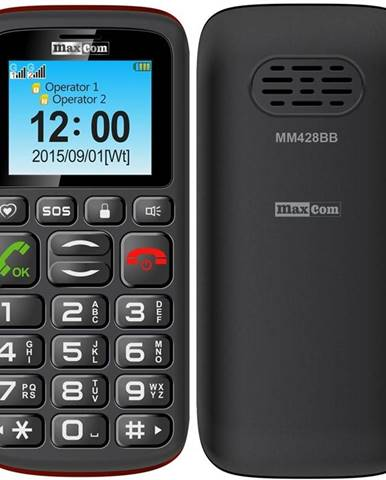 Mobilný telefón MaxCom MM428 čierny
