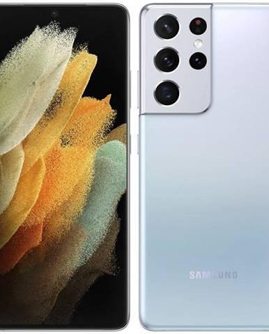 Mobilný telefón Samsung Galaxy S21 Ultra 5G 128 GB strieborný