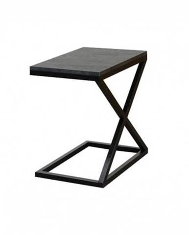 Prístavný stolík ST202009 mramor uhelný / čierna
