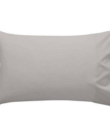 Sivá bavlnená obliečka na vankúš , 50 × 30 cm