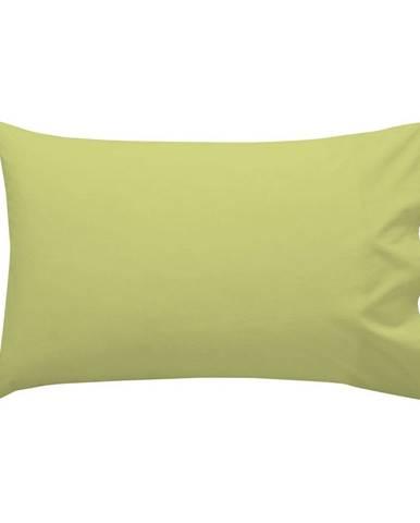 Zelená bavlnená obliečka na vankúš , 50 × 30 cm
