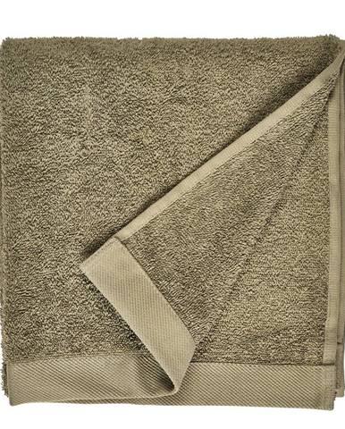 Olivovozelený uterák z froté bavlny Södahl Organic, 100 x 50 cm