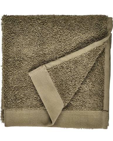 Olivovozelený uterák z froté bavlny Södahl Organic, 60 x 40 cm