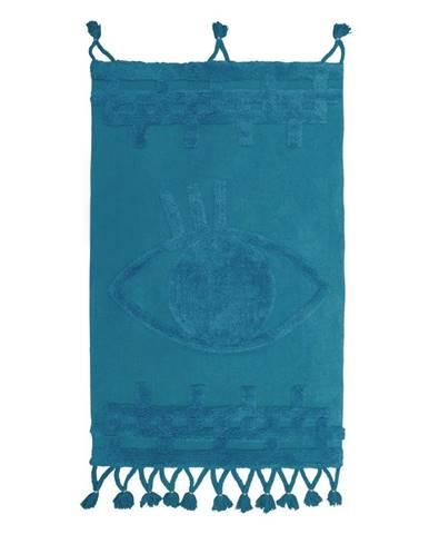 Modrý bavlnený nástenný koberec Nattiot Siva, 70 x 120 cm