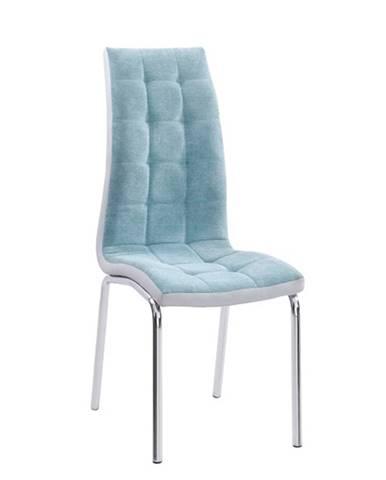 Jedálenská stolička mentolová/chróm GERDA NEW
