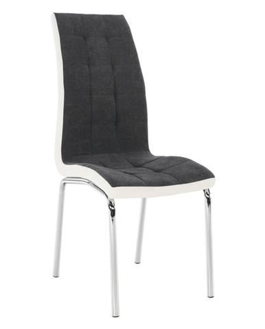 Jedálenská stolička tmavosivá/biela GERDA NEW