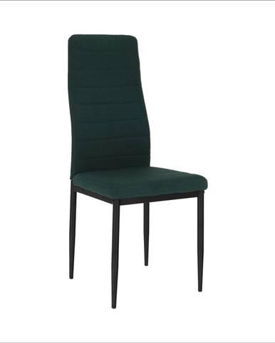 Stolička smaragdová látka/čierny kov COLETA NOVA