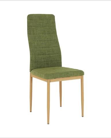 Stolička zelená látka/buk COLETA NOVA