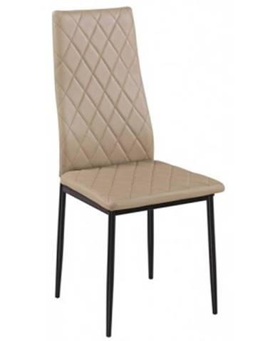 Jedálenská stolička Rimini, béžová ekokoža%