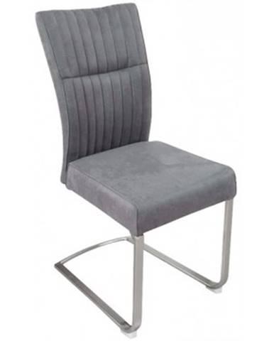 Jedálenská stolička Sonata, šedá vintage látka%